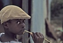Boy with straw, Guadeloupe