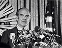 George McGovern with American flag